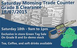 Saturday Morning Sales Counter
